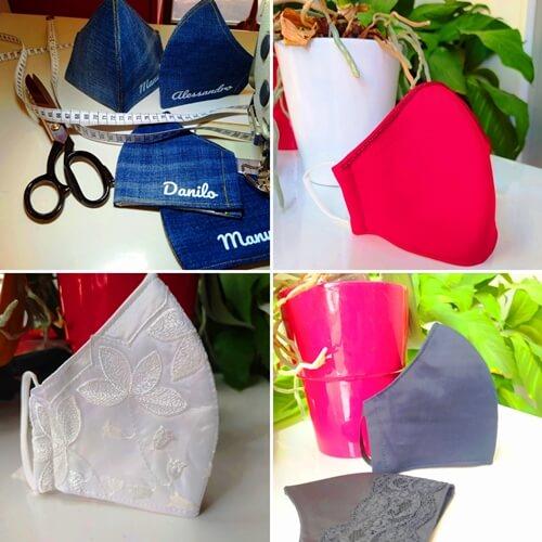 Mascherine protettive viso 100% cotone, lavabili e con filtro estraibile